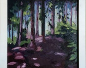 Daily painting 11- woodland oil painting