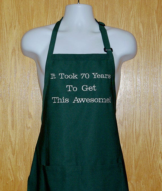 70th Birthday Apron 60th 50th 40th Custom Gift For Awesome
