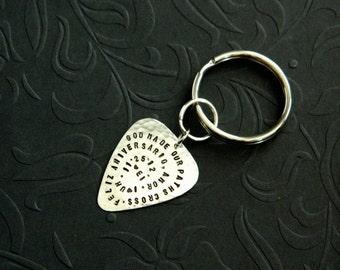 Custom Guitar Pick Keyring Copper By Greenleafpickcompany