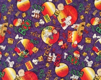 A Wonderful Peanuts Charlie Brown And Snoopy Trick Or Boo Halloween Cotton Fabric BTY Free US Shipping