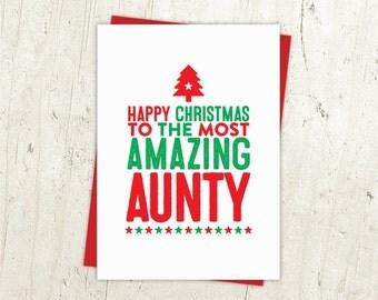 Happy Christmas Aunty Card