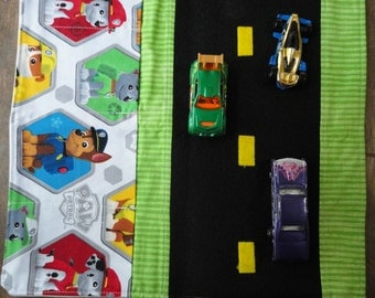 Paw Patrol Car Caddy Roll up Tote with Road
