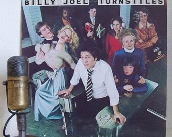 "ON SALE Billy Joel Vinyl Record Album 1970s Pop Folk Piano Storyteller Singer Songwriter LP ""Turnstiles""(1976 Cbs w/""New York State of Mind"""