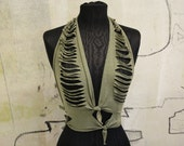 Sliced Halter Top / Festival Style / Earth Spirit