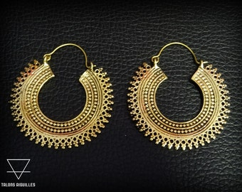 Boucles d'oreille laiton # brass earrings # tribal hoop
