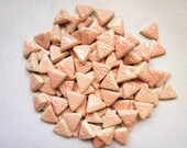 Mosaic Tiles-Pink Pastel-75- 1 inch pieces-embossed triangles