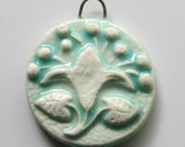 Handcrafted Ceramic Porcelain Pendant