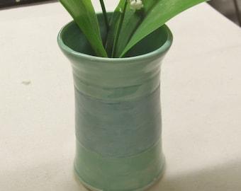 Ceramic Bud Vase Handmade Pottery Stoneware Window Sill Vase