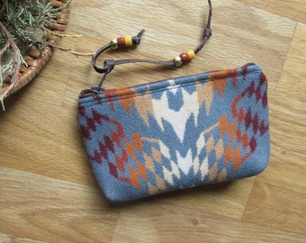Medicine Bag, Totem Pouch, Coin Zippered Change Purse Thunder and Earthquake 6.75 x 4
