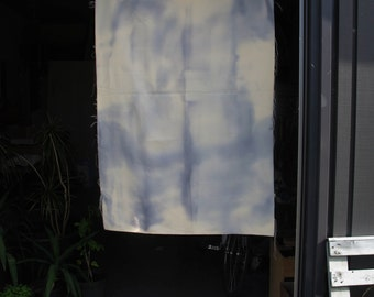 tie dye shibori curtain / indigo blue / material piece / heavyweight