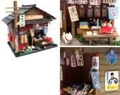 Billy DIY dollhouse : Showa Candy Shop/DIY dollhouse/Japanese style dollhouse/Billy dollhouse/Billy miniature/Japanese candy shop,from Japan
