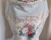 """ECHO // Beautiful Large White Blue Floral Silk Cotton Scarf // 34"""" Inch 88cm Square"""