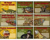 Printable DiY Reptile Lizard Snake Alligator Theme Valentine Cards for kids - INSTANT DOWNLOAD