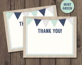 RUSTIC Baby Shower THANK YOU Cards - Flat a2 Sized - Instant Download