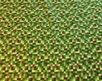 Minecraft inspired fabric 16 bit cotton flannel BTY