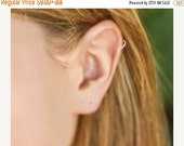 SALE TODAY - Buy 3, Get 4th FREE - Tiny Seamless Hoop Cartilage Earring, Argentium Silver, Gold, Niobium, Titanioum, Cartilage Hoop
