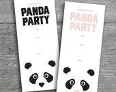 PANDA PARTY INVITATION // Birthday Party Invitation // Printable Invitation // Digital Invitation
