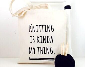 Knitting Bag - funny knitting project bag