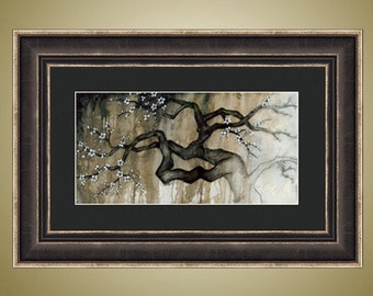 PRINT or GICLEE Reproduction -- Gnarled Tree Print, Fading Tree Art, Bare Branch, Spooky Tree