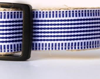 Nautical Stripe Dog Collar