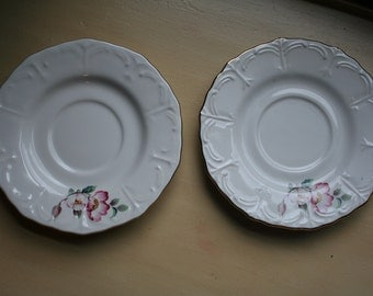 House of Webster Wild Briar Rose Pair of Saucers