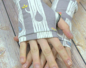 Womens Fingerless Gloves - Organic arm warmers- Mori style -Fingerless mitts-Short gloves - Driving Gloves-Best Seller