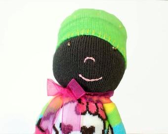 African American Sock Doll