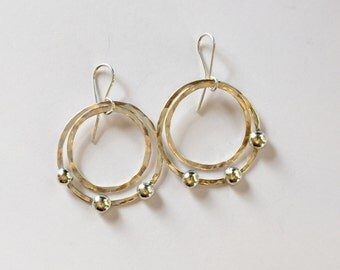 Sterling Double Hoops