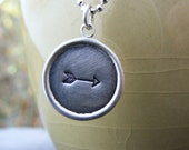 Reserve for Anne - 2 Charms - Sterling Hand Stamped Arrow Charm and Angel Wings