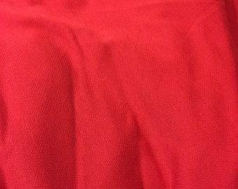 Rose Red Cotton Jersey Sweatshirt Fleece Knit Fabric