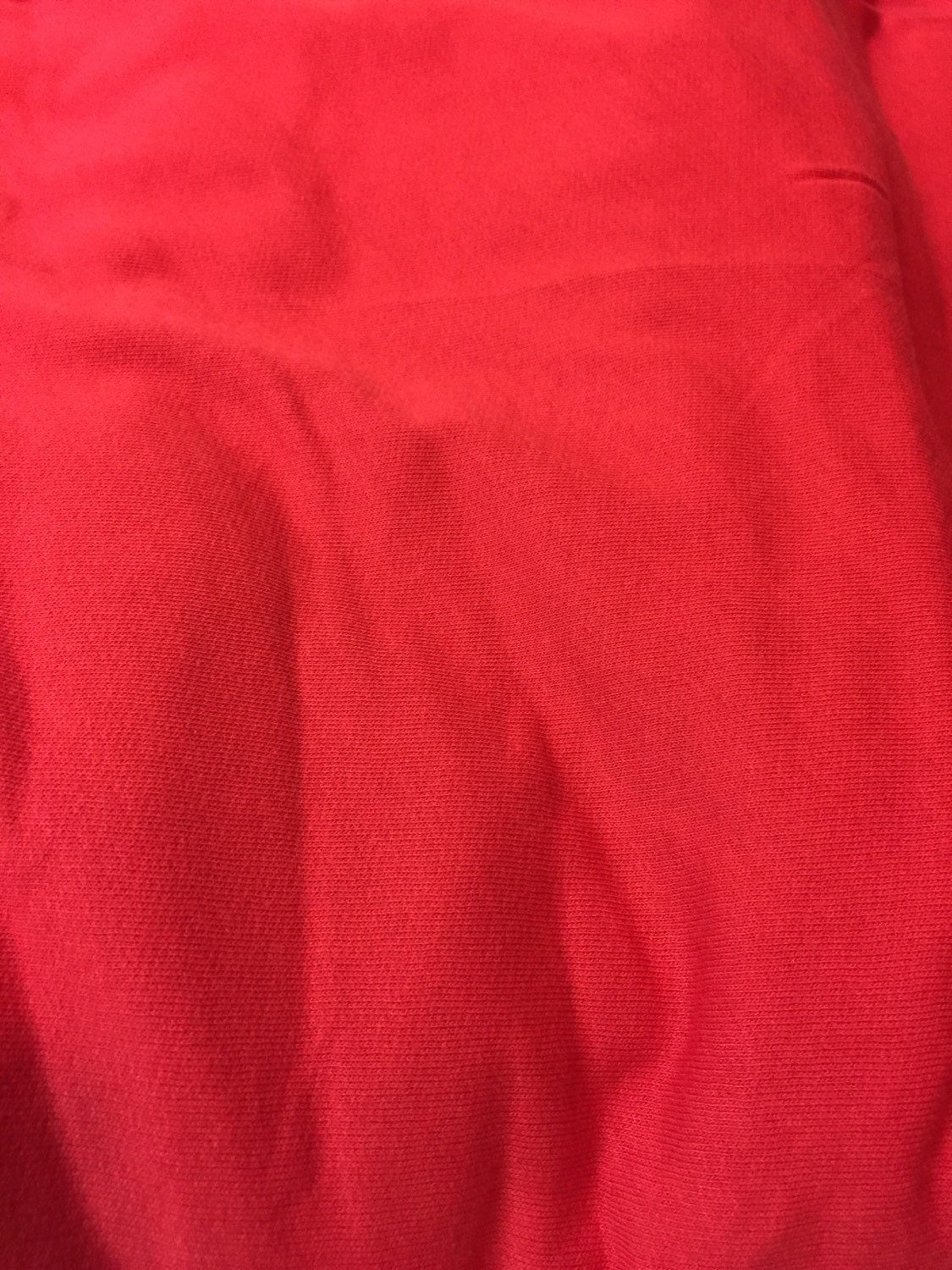 Rose red cotton jersey sweatshirt fleece knit fabric from for Constellation fleece fabric