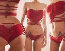 Cotton Jersey Heart top and panties set