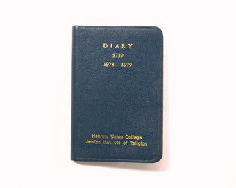 Jewish Pocket Calendar Address Book, 1970s