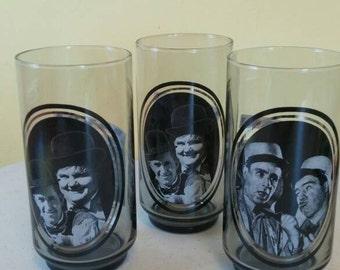 Set of Three Vintage 1970s Arbys Drinking Glasses