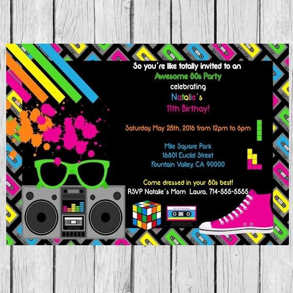 invitación de Tetris tetris fiesta temática tetris
