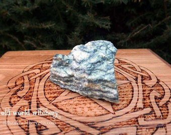 LARGE Gorgeous Rough Raw Green Dragon Serpentine Stone Rock Specimen earth magick, kundalini energy