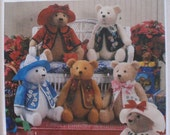 Elaine Heigl Craft Pattern - 18 Inch (45.5cm) Stuffed Teddy Bear and Clothes - Simplicity 7895, Uncut