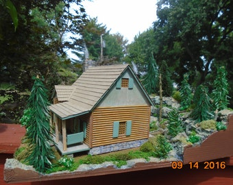 Mountain Cabin Diorama