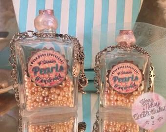 Pearls of Wisdom Bottle necklace