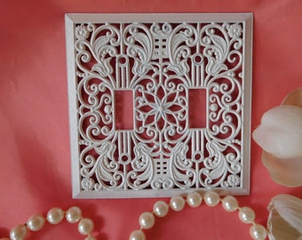 SHABBY and Painted VINTAGE Filigree Switch Cover