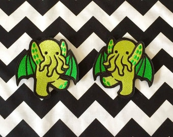 Cute cthulhu sew on or iron on patch