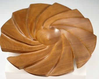 A2125 Mahogany Fan Shaped Bowl