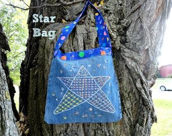 Denim Star Bag
