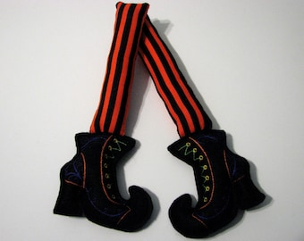 Halloween Witch Boots Decoration
