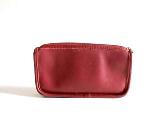 Red Coach Makeup Clutch