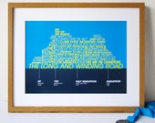 Running Achievements Print - Personalised poster for Runners - Running enthusiatsts personalised print