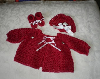 Babies Little Red Sweater Set
