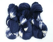 "RESERVED for Jan Hand dyed yarn Merino, Baby Alpaca, Silk ""Shibori Indigo"" in Norah, DK weight"