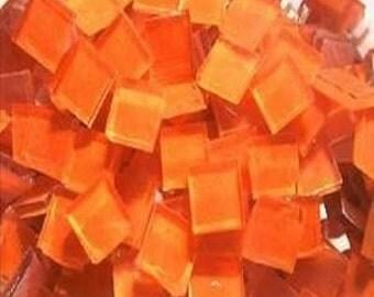 500 blueriverglass orange painted mosaic tile hand cut