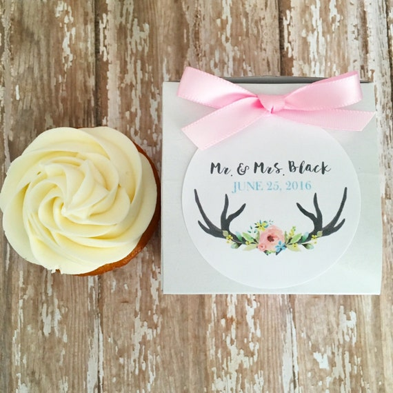 Wedding Gift Box Stickers : wedding favor boxes, floral antler wedding stickers with box, wedding ...